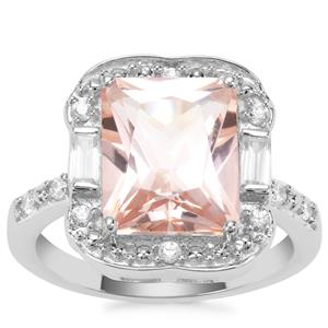 Galileia Topaz Ring with White Zircon in Sterling Silver 5.96cts