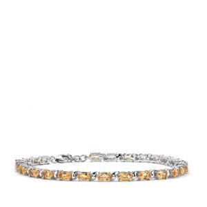 5.24ct Diamantina Citrine Sterling Silver Bracelet