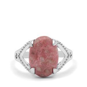 5.86ct Norwegian Thulite Sterling Silver Ring