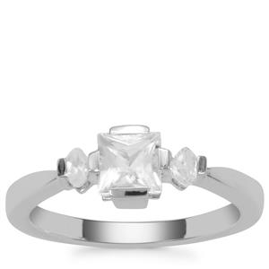 Itinga Petalite Ring with White Zircon in Sterling Silver 0.68ct