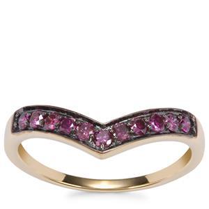 Purple Diamond Ring in 10k Gold 0.37ct