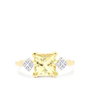 Serenite Ring with Diamond in 9K Gold 1.61cts