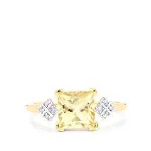 Serenite & Diamond 10K Gold Ring ATGW 1.61cts