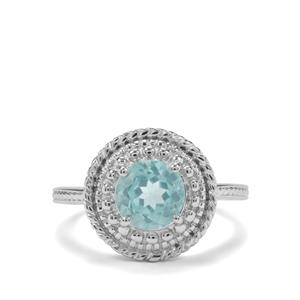 1.37ct Madagascan Blue Apatite Sterling Silver Ring