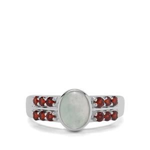 Aquaprase™ & Rajasthan Garnet Sterling Silver ATGW 1.77cts