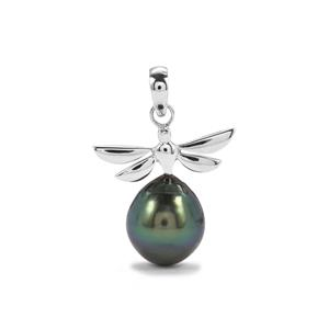 Tahitian Cultured Pearl Sterling Silver Pendant (15mm x 12mm)