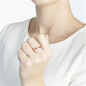 Pink Tourmaline & Diamond 10k Gold Ring ATGW 0.40cts