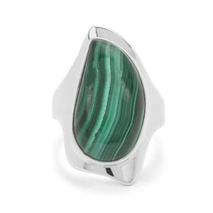 Malachite Ring in Sterling Silver 16cts