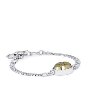 20ct Drusy Pyrite Sterling Silver Aryonna Bracelet