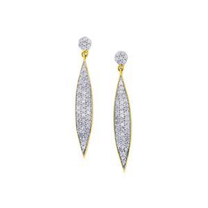 Diamond Earrings in 9K Gold 0.75ct