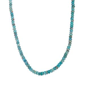 Cochise Turquoise Necklace in Sterling Silver 66.70cts