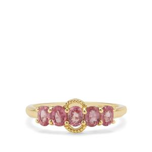 1.20ct Padparadscha Sapphire 9K Gold Ring