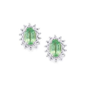 Nuagaon Kyanite & White Topaz Sterling Silver Earrings ATGW 1.48cts