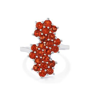Mozambique Garnet Ring in Sterling Silver 3.31cts