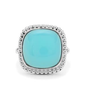 Aqua Chalcedony Ring in Sterling Silver 9.50cts
