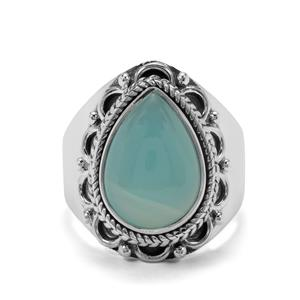 6ct Aqua Chalcedony Sterling Silver Aryonna Ring