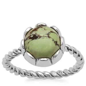 Queensland Chrysoprase Ring in Sterling Silver 4.50cts