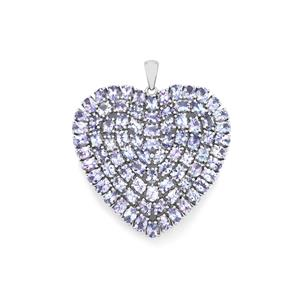 Tanzanite Pendant in Sterling Silver 12.07cts
