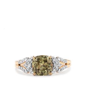 Csarite® & Diamond 18K Gold Ring MTGW 2cts