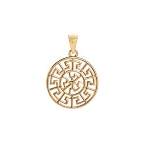 Gold Tone Sterling Silver Pendant 2.21g