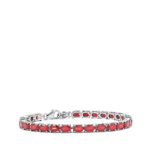 Malagasy Ruby Bracelet in Sterling Silver 18.90cts