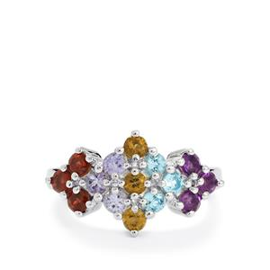Exotic Gems Ring in Sterling Silver 1.38cts