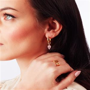 Molte Horseshoe Hoop Earrings in Gold Plated Silver