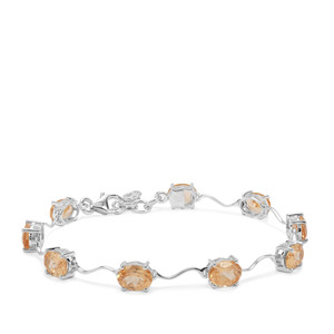 Imperial Garnet Bracelet in Sterling Silver 13.14cts