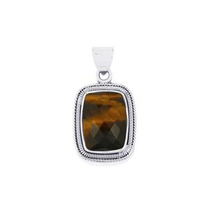 15ct Yellow Tigers Eye Sterling Silver Aryonna Pendant