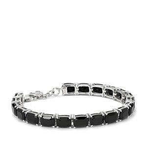 Black Spinel Bracelet in Sterling Silver 32.07cts
