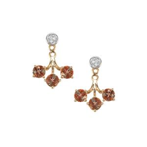 Gouveia Andalusite & Diamond 10K Gold Earrings ATGW 1.64cts