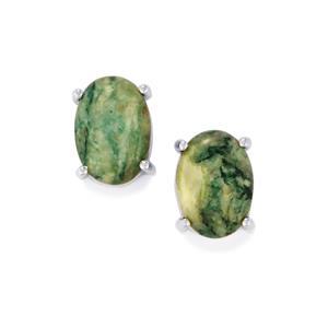 11.76ct Siberian Mariposite Sterling Silver Aryonna Earrings