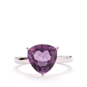 Purple Fluorite Ring in Sterling Silver 4.10cts