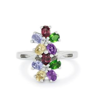 Exotic Gemstones Sterling Silver Ring ATGW 1.96cts
