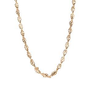 "20"" 9K Gold Tempo Diamond Cut Rope Chain 3.80g"