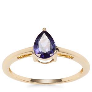 AA Tanzanite Ring in 9K Gold 0.63ct