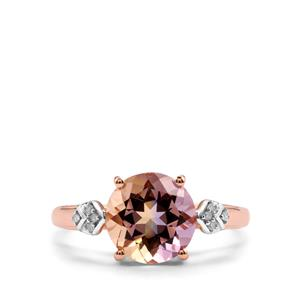 Anahi Ametrine Ring with Diamond in 10K Rose Gold 2.37cts