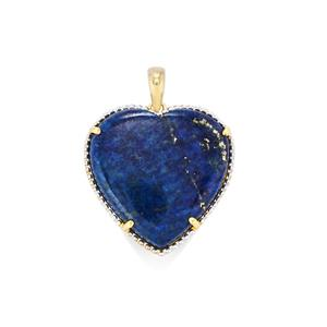 Sar-i-Sang Lapis Lazuli Pendant in Gold Plated Sterling Silver 24.54cts