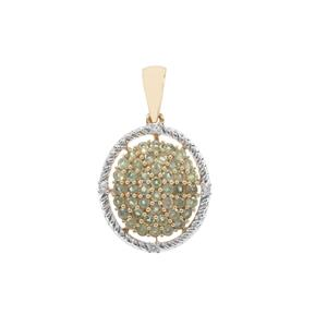 Alexandrite Pendant with Ceylon Sapphire in 9K Gold 0.89ct