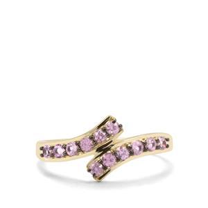 0.55ct Sakaraha Pink Sapphire 9K Gold Ring