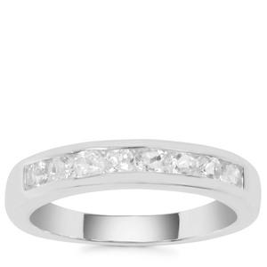 Plush Diamond Sunstone Ring in Sterling Silver 0.56ct