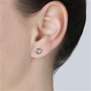 0.80ct Aquamarine Gold Vermeil Earrings