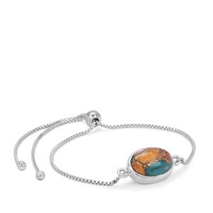 Oyster Copper Mojave Turquoise Slider Bracelet in Sterling Silver 6cts