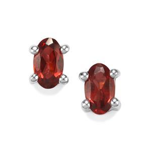0.58ct Rajasthan Garnet Sterling Silver Earrings