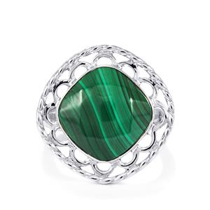 10.07ct Malachite Sterling Silver Ring
