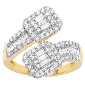 Diamond Ring in 18K Gold 1.05cts