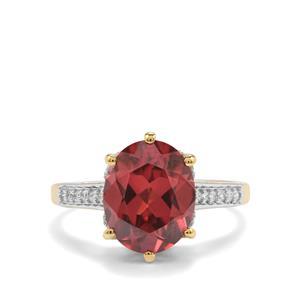 Zanzibar Sunburst Zircon & Diamond 18K Gold Lorique Ring MTGW 5.32cts