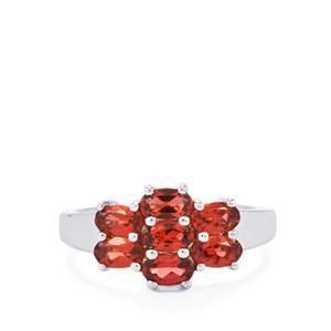 2.06ct Rhodolite Garnet Sterling Silver Ring