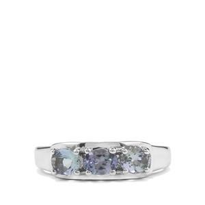 1ct Bi Colour Tanzanite Sterling Silver Ring