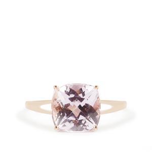 3.68ct Kunzite 9K Rose Gold Ring
